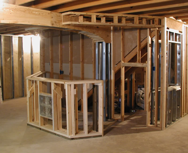 How To Frame A Basement Wall frame basement walls